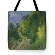 Bend In The Road Through The Forest Tote Bag