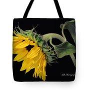 Bending Sunflower Tote Bag