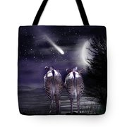 Beneath A Zebra Moon Tote Bag