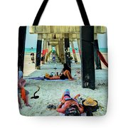 Beneath The Jacksonville Beach Pier  Tote Bag