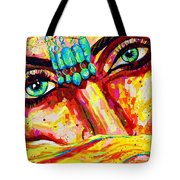 Exotic Desert Eyes Painting, Beneath The Niqab Tote Bag