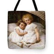 Beneath The Wing Of An Angel Tote Bag by William Strutt