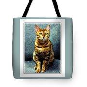 Bengal Cat Digital Oil Pastel Tote Bag