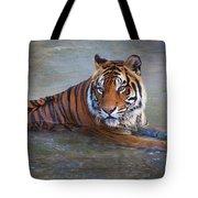 Bengal Tiger Laying Water Tote Bag
