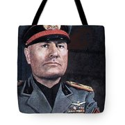 Benito Mussolini Color Portrait Circa 1935 Tote Bag