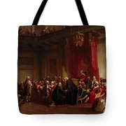 Benjamin Franklin Appearing Before The Privy Council  Tote Bag