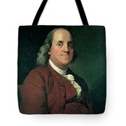 Benjamin Franklin Tote Bag by Joseph Wright of Derby