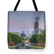 Benjamin Franklin Parkway City Hall Tote Bag
