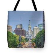 Benjamin Franklin Parkway City Hall Vertical Tote Bag