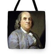 Benjamin Franklin Painting Tote Bag