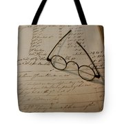 Benjamin's Glasses Tote Bag