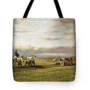Bent Over The Earth Tote Bag