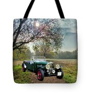 Bentley On A Country Road Tote Bag