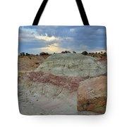 Bentonite Dunes Along Little Park Road Tote Bag