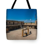 Bent's Fort Courtyard Tote Bag
