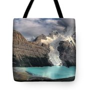 Berg Lake, Mount Robson Provincial Park Tote Bag by Clarke Wiebe