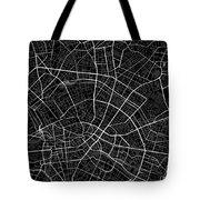 Berlin Germany Dark Map Tote Bag