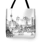 Berlin Medley Monochrome Tote Bag