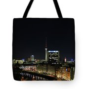 Berlin Night Landscape Tote Bag
