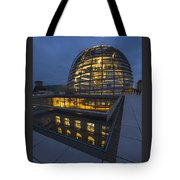 Reichstag Dome Terrace #1, Berlin, Germany Tote Bag