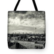 Berlin Skyline And Roofscape -black And White Tote Bag
