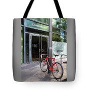 Berlin Street View With Red Bike Tote Bag