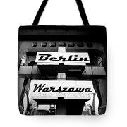 Berlin To Warsaw Frame 1  Tote Bag