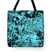 Berlin Traffic Abstract Blue Map Tote Bag