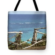 Bermuda Fence And Ocean Overlook Tote Bag