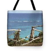 Bermuda Fence And Ocean Overlook Tote Bag