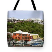 Bermuda Waterside Scene Tote Bag
