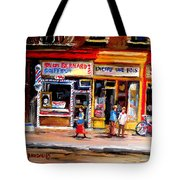 Bernard Barbershop Tote Bag