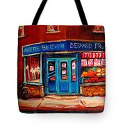 Bernard Fruit And Broomstore Tote Bag