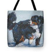 Bernese Mountain Dog In Drift Tote Bag