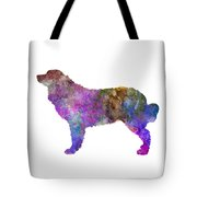 Bernese  Mountain Dog In Watercolor Tote Bag