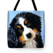 Bernese Mountain Puppy Tote Bag