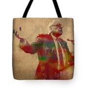 Bernie Sanders Watercolor Portrait Tote Bag
