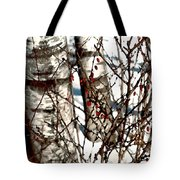 Berries And Birches Tote Bag