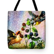 Berries And Birds Tote Bag