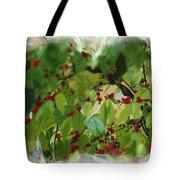 Berries And Leaves 51 Tote Bag