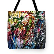 Berries Over Flowers Tote Bag