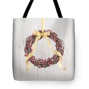 Berry Decorated Wreath Tote Bag
