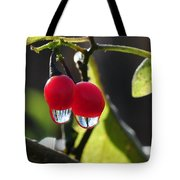 Berry Droplets Tote Bag