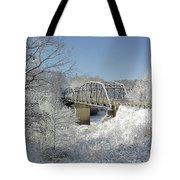 Bert White Bridge Tote Bag