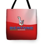 Bertone 3 D Badge On Red Tote Bag