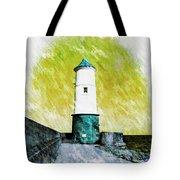 Berwick Lighthouse As Graphic Art. Tote Bag