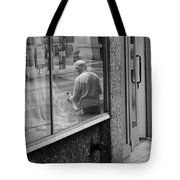 Beside The Cafe  Tote Bag