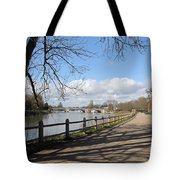 Beside The Thames At Hampton Court London Uk Tote Bag