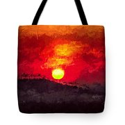 Beskidy Sunset Tote Bag