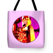 Bessie Goodell Clark At Her Wehrle Stove Tote Bag by Eikoni Images